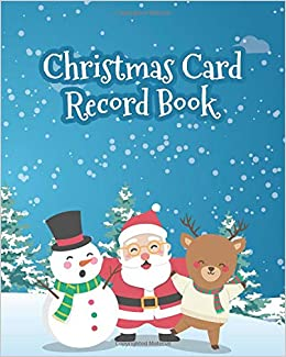 Christmas Card Record Book Address Book For Christmas Cards Send
