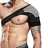 Shoulder Brace Rotator Cuff Compression Sleeve Adjustable Wrap Pad Strap for Bursitis, Dislocated AC Joint, Frozen Shoulder Pain, Sprain, Soreness and Tendinitis