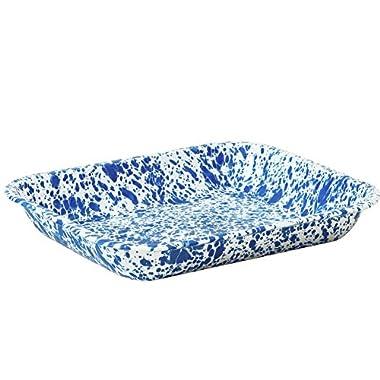 Enamelware Large Roasting Pan - Blue Marble