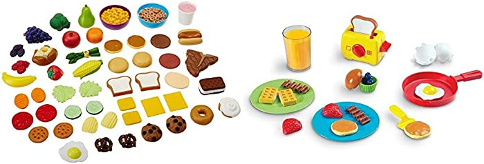 Learning Resources New Sprouts Complete Play Food Set, 50 Pieces,Assorted & Pretend & Play Rise & Shine Breakfast Play Food, 21 Piece Set, Ages 3+, Multicolor