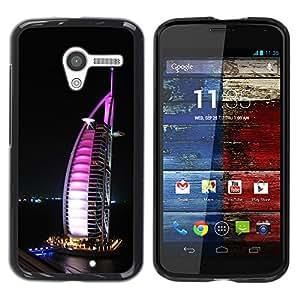 YiPhone /// Prima de resorte delgada de la cubierta del caso de Shell Armor - Burj Dubai - Motorola Moto X 1 1st GEN I XT1058 XT1053 XT1052 XT1056 XT1060 XT1055