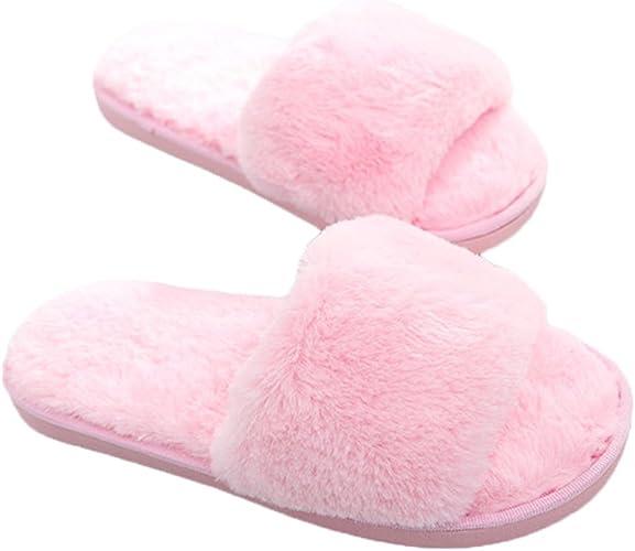 Dearfoams HOLLIE Ladies Womens Warm Faux Fur Lined Stylish Winter Mule Slippers