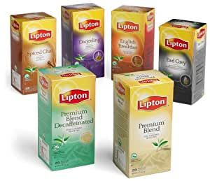 Lipton, Traditional Variety Pack Tea, 28-Count Teabags (Pack of 6)