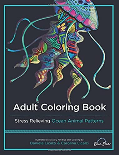 Amazon Com Adult Coloring Book Ocean Animal Patterns Pink Kindle Fire For