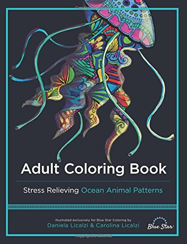 Adult Coloring Book Animal Patterns