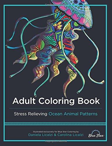Amazon Adult Coloring Book Ocean Animal Patterns