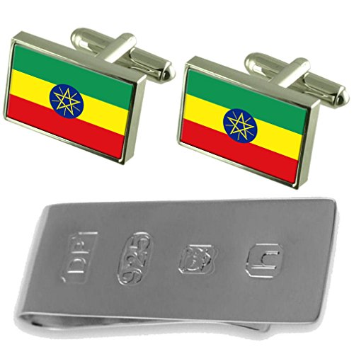 Flag James Ethiopia Clip Flag Money Bond Cufflinks amp; Ethiopia RxaR1nqdE