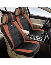 FH Group PU205BROWN102 Ultra Comfort Leatherette Front Seat Cushion (Airbag Compatible)