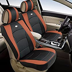 FH Group PU205BROWN102 Brown Ultra Comfort Leatherette Front Seat Cushion (Airbag Compatible)