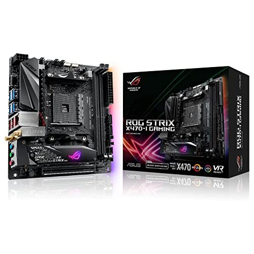 chollos oferta descuentos barato Asus ROG STRIX X470 I GAMING AMD AM4 X470 mini ITX Placa base gaming con M 2 heatsink Aura Sync RGB ilumina