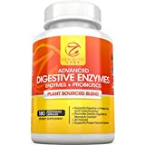 Digestive Enzymes With Probiotics - Ultra Effective Plant Based Vegan Blend - The Most Powerful Digestive Dietary Supplement for Men and Women - 180 Vegetarian Capsules - Strengthens Digestive System & Reduces Gas, Bloating