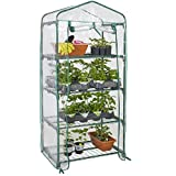 Best Choice Products 27x19x63in 4-Tier Mini Greenhouse w/Cover and Roll-Up Zipper Door - Green
