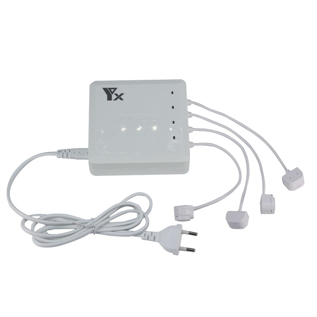 Foxom 6 in 1 Rapido Caricabatterie Intelligente Charging Hub Per DJI Spark Drone Battery, Telecomando e telefoni