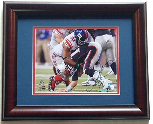 Justin Tuck Ny Giants Autographed Signed 8x10 Photo Framed Signature SB 46 Tom Brady Steiner