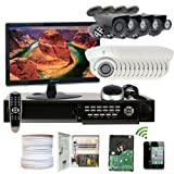 GW-Security-Inc-16CHE4-Vari-Focal-Lens-Security-Camera-System-with-Monitor-WhiteBlack