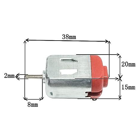 10 piezas DC 3 V-12 V pequeño motor eléctrico de ultra alta ...