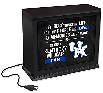 "KH Sports Fan 1012102285 9.75""X7.75"" Kentucky Wildcats Best Things Acrylic Collage Art Plaque"