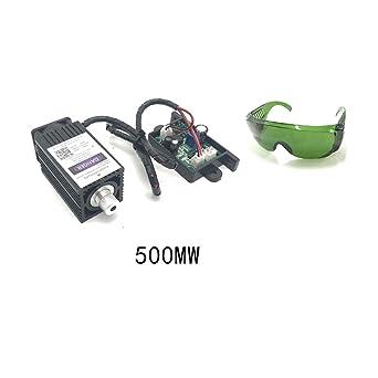Amazon.com: GUUQA - Módulo láser azul morado de 405 nm y 500 ...