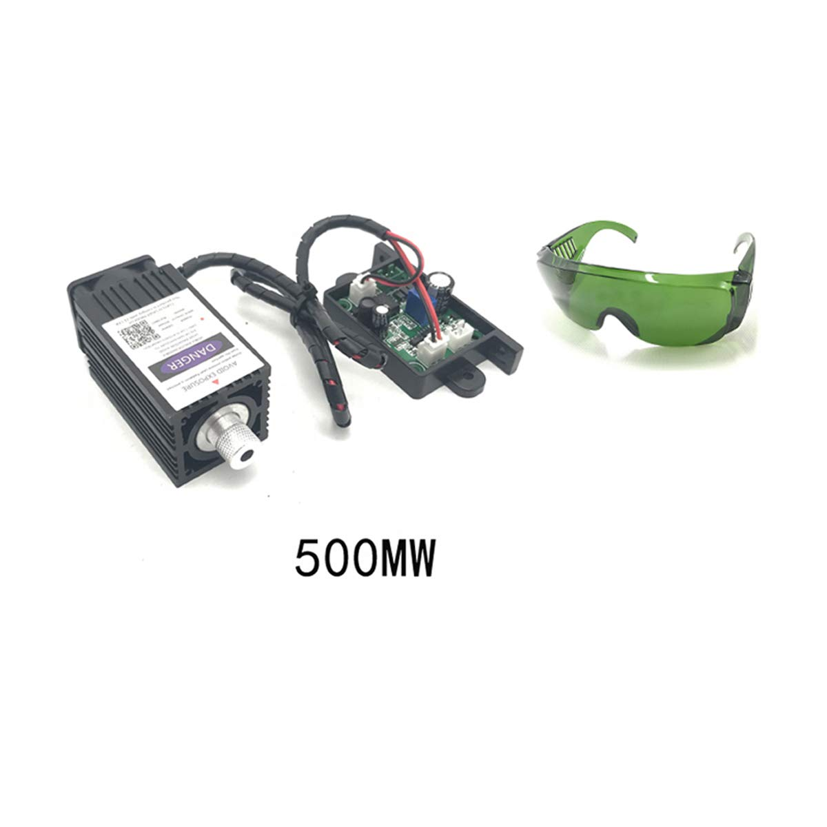 GUUQA Blue Purple Laser Module 405nm 500mw Focusable for 3D Printer/CNC Engraving/Laser Engraving 12V