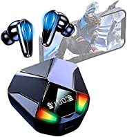 Fones De Ouvido Bluetooth Sem Fio Do Jogo, Estéreo Fone De Ouvido Bluetooth V5.1 Premium Fidelidade Qualidade