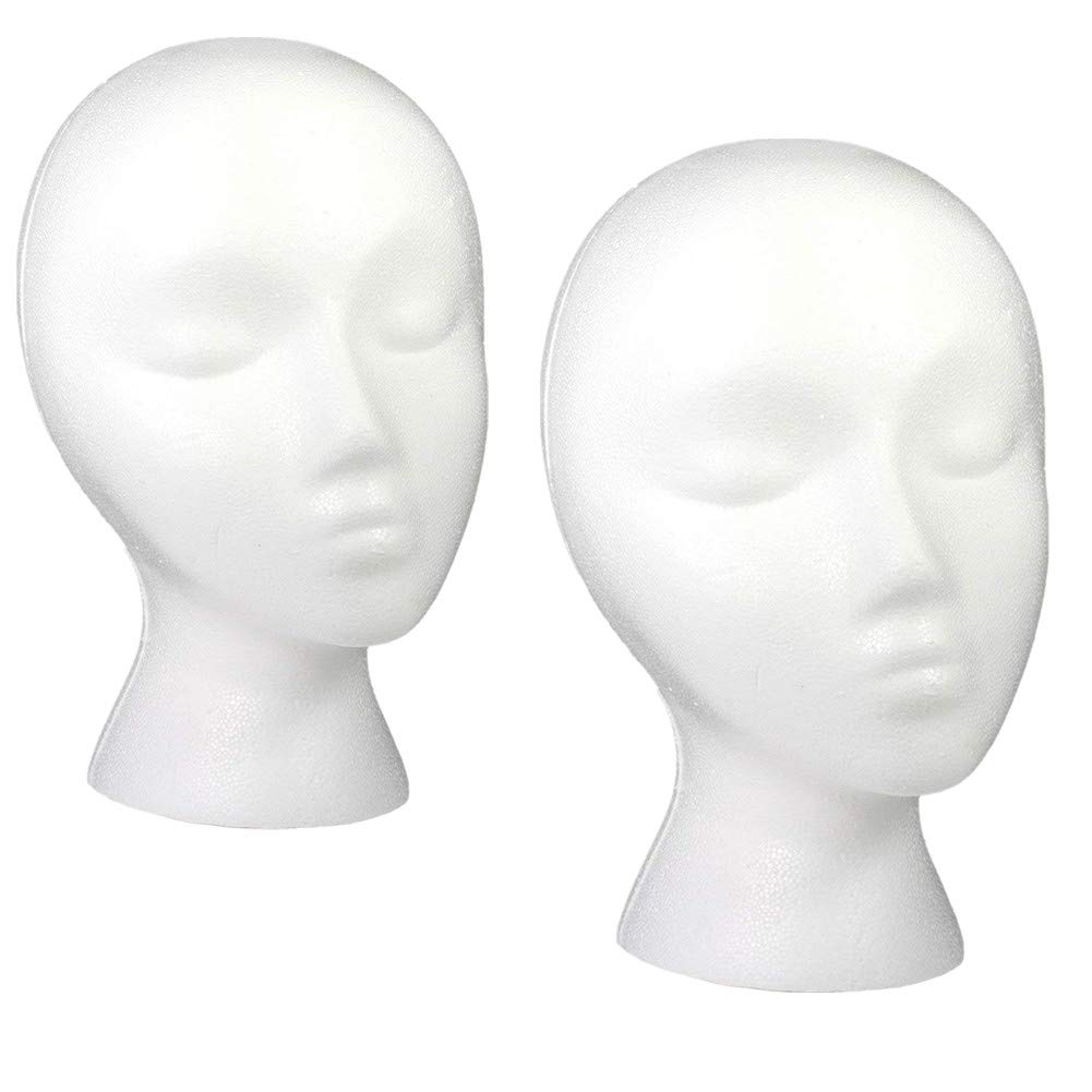 Styrofoam Wig Head,PACK OF 2