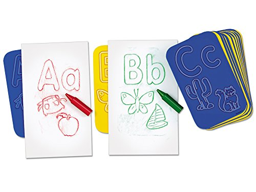 Learning Letters Rubbing Plates