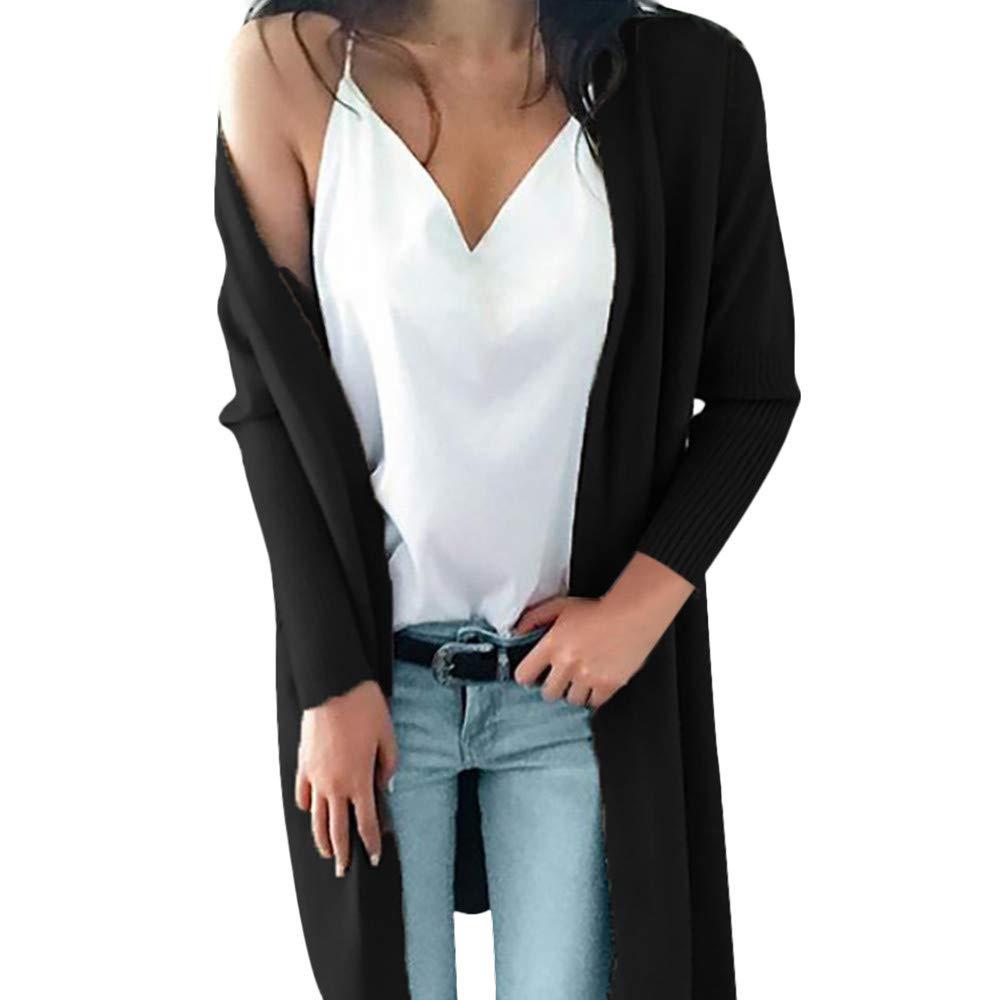 Seaintheson Women's Coats SWEATER レディース B07HKFCFFQ X-Large|ブラック ブラック X-Large