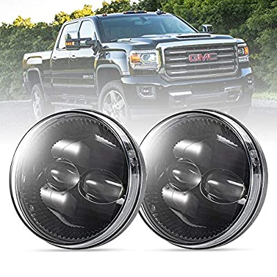 FieryRed Fog Light with Cree LED Bulbs for GMC Sierra 1500 2007-2013,100% OEM 1500LM Driving Light,IP68 Waterproof: Automotive