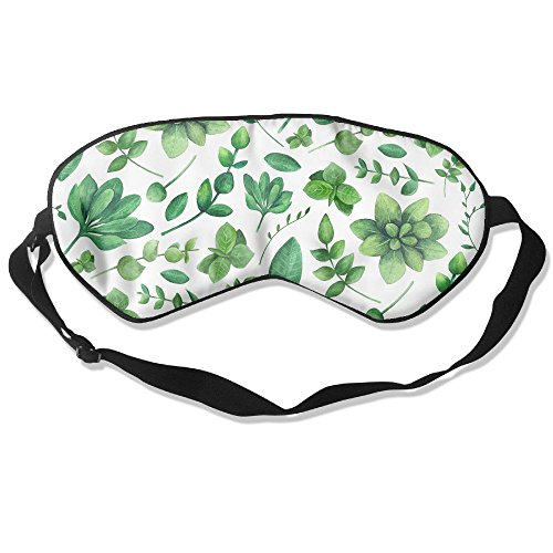ZhiqianDF Garden Pattern Nature Summer Background Green Goggles Sleep Shading Breathable Cute Eyes Relieve Eye - Gardens Where Is Jersey