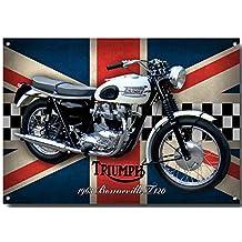 Triumph Bonneville T120 Quality Metal Sign (200mm x 285mm x 1mm)