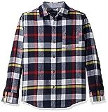 Nautica Boys' Little Long Sleeve Plaid Woven Shirt, Haddon Red Rouge, 6