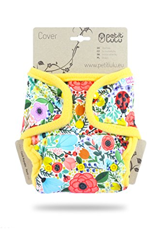 Petit Lulu One Size Cloth Diaper (Snaps) - Blooming Garden ()