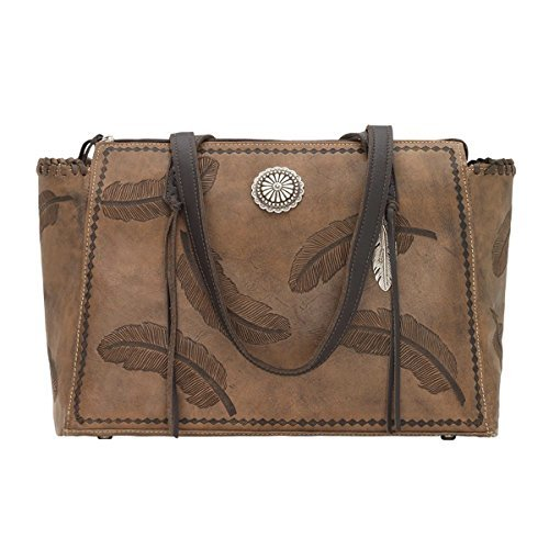 American West Women's Sacred Bird Concealed Carry Tote Distressed Brown One Size