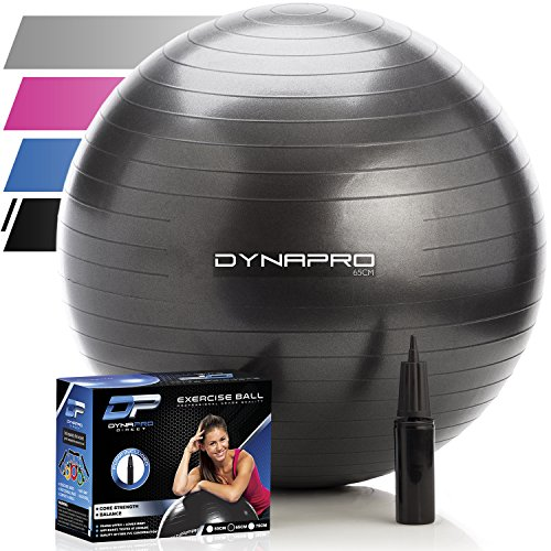 DYNAPRO Exercise Ball – 2,000 lbs Stability Ball – Professional Grade – Anti Burst Exercise Equipment for Home, Balance, Gym, Core Strength, Yoga, Fitness, Desk Chairs 51zxlNTdV4L