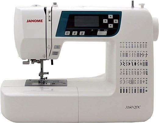 Janome 3160QDC máquina de coser computarizada con cubierta dura + mesa de extensión + kit de