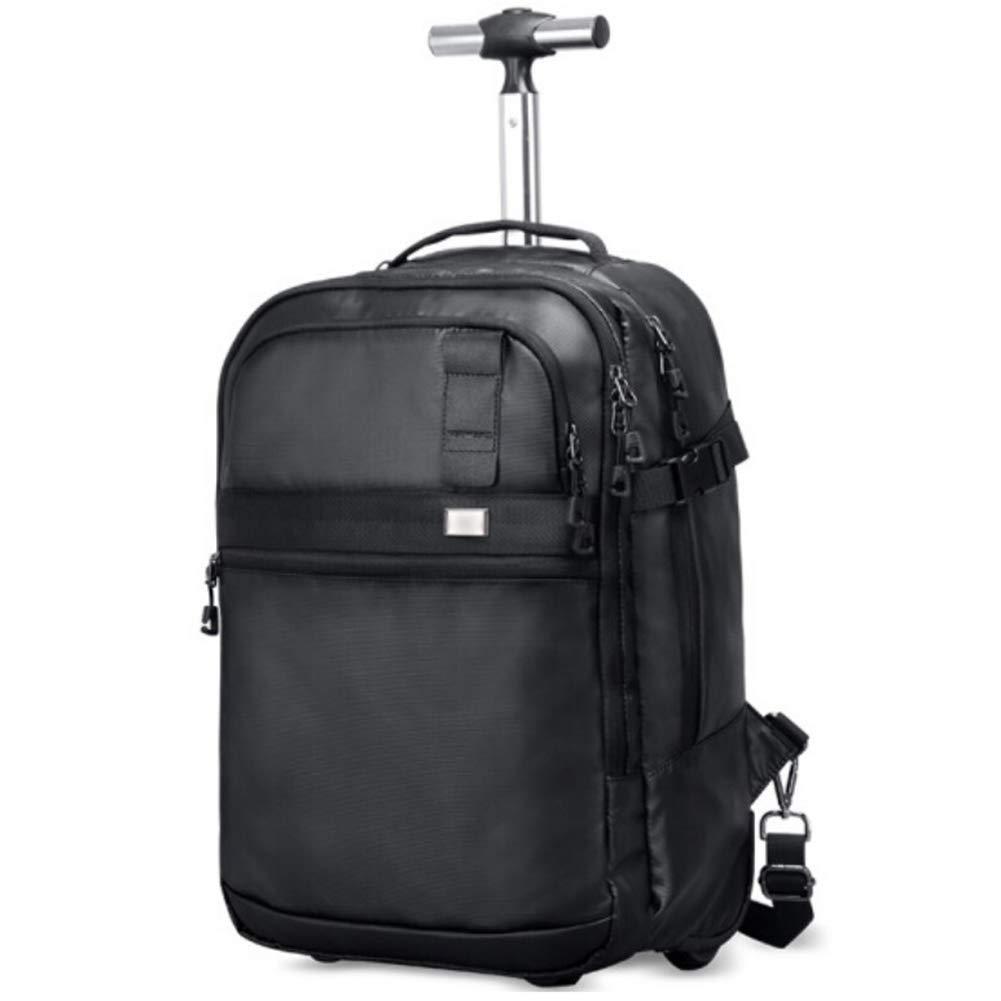 TONGSH 16インチのラップトップ用のコンパクトローリングバックパックは、荷物用キャスター付きトロリー/トロリーバックパック用ショルダーバッグ大人用デュアルユーススーツケース B07T731WXL