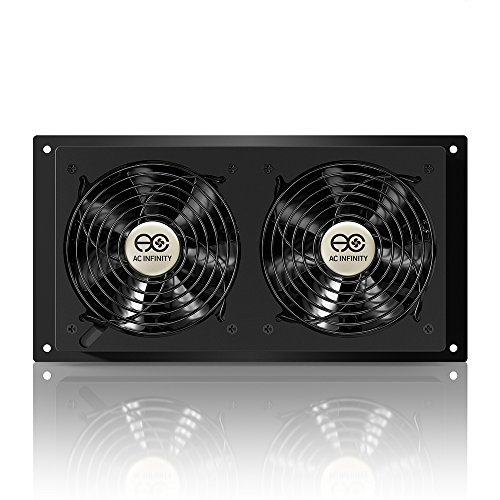 AC Infinity AIRPLATE T7, Quiet Cooling Fan System With Thermostat Control,  For Home Theater AV Cabinets (3ce1fa5ea7a196c40fdb443ea67fcd39)    PCPartPicker