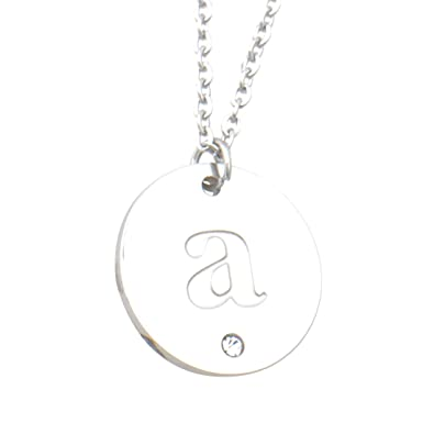 Amazon com: A Missing Dog Stainless Steel Letter Charm A