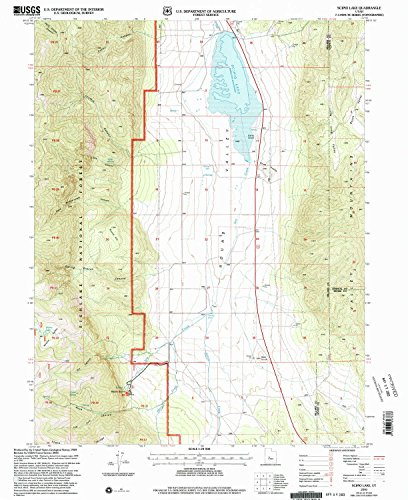 YellowMaps Scipio Lake UT topo map, 1:24000 Scale, 7.5 X 7.5 Minute, Historical, 2001, Updated 2003, 26.7 x 21.8 in - Tyvek (Rock Maple Red Grove)