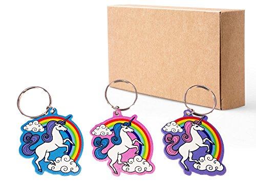 48 Stück Niedlich Einhorn / Unicorn Schlüsselanhänger / Keychain, Schlüsselring Reizend Verzierung für Schultasche Daypacks Schulrucksäcke Schulranzen. Perfekt als kleine Partyüberraschung für Kinder