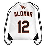 Baltimore Orioles Alomar R. #12 Hall Of Fame Drawstring Backpack