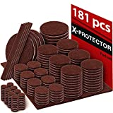 Furniture Glides for Hardwood Floors X-PROTECTOR Premium Ultra Large Pack Felt Furniture Pads 181 Piece! Felt Pads Furniture Feet All Sizes - Your Best Wood Floor Protectors. Protect Your Hardwood Flooring with 100% Satisfaction!