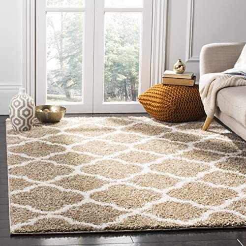 Safavieh New York Shag Collection SG168A Dark Beige and Ivory Area Rug 9 x 12