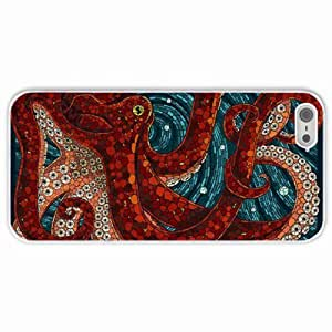 Apple iPhone 5 5S Cases Customized Gifts Octopus White Hard PC Case