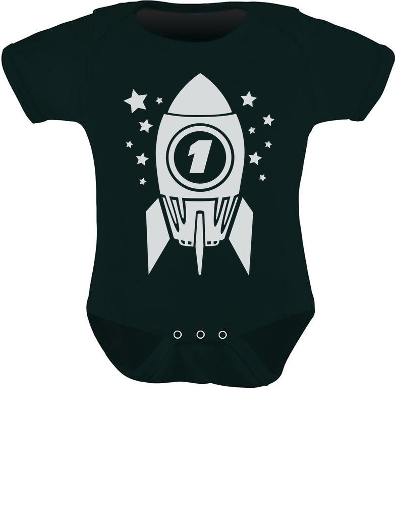 TeeStars – 1st Birthday Space Rocket One Year Old Cute Baby Bodysuit