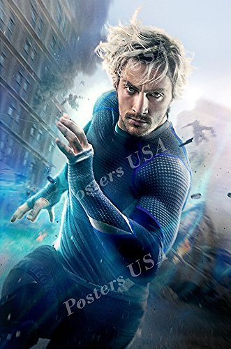(Posters USA - Marvel Avengers Age of Ultron Quicksilver Movie Poster GLOSSY FINISH - FIL248 (24