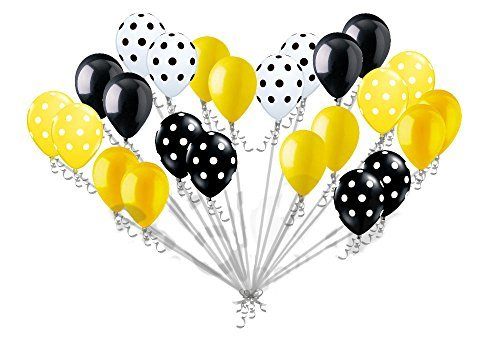 24pc Bumblebee Inspired Latex Balloons Party Decoration Baby Shower Birthday Bee -