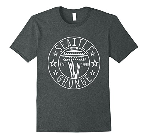 Mens Cool Vintage Seattle WA Grunge Est.1990 Shirt Gift T-Shirt 2XL Dark - Of Men Wa