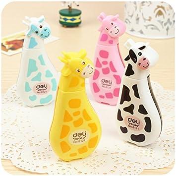 4 Pcs Mignon Fantaisie Kawaii Dessin Anime Animal Girafe White Out