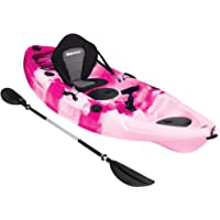 Bluewave Crest Solo Fishing Kayak | Single Sit On Top Kayak With 5 Rod Holders, 2 Storage Hatches, Padded Seat & Paddle